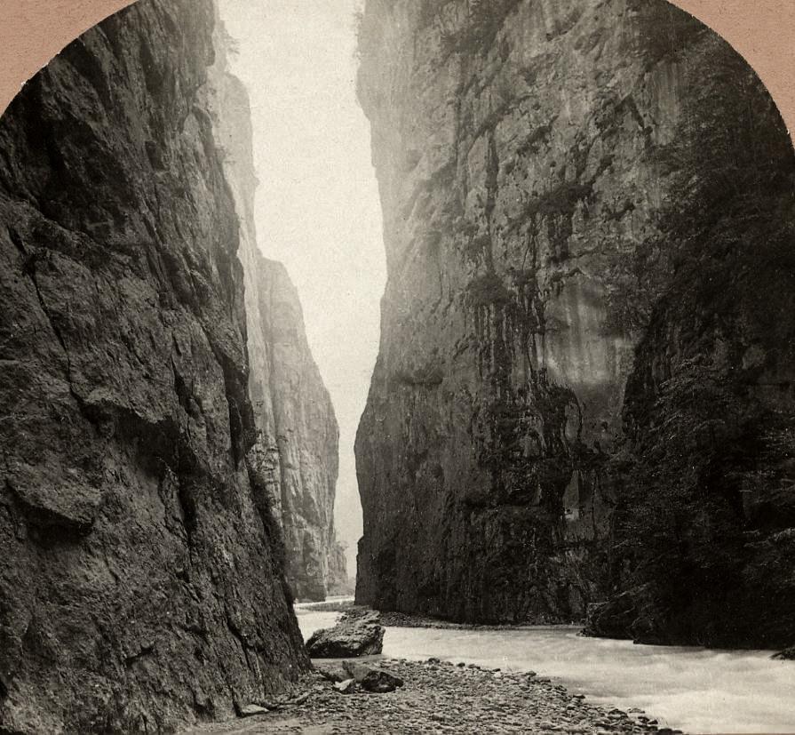 Gorge de l'Aare par Jullien en 1885