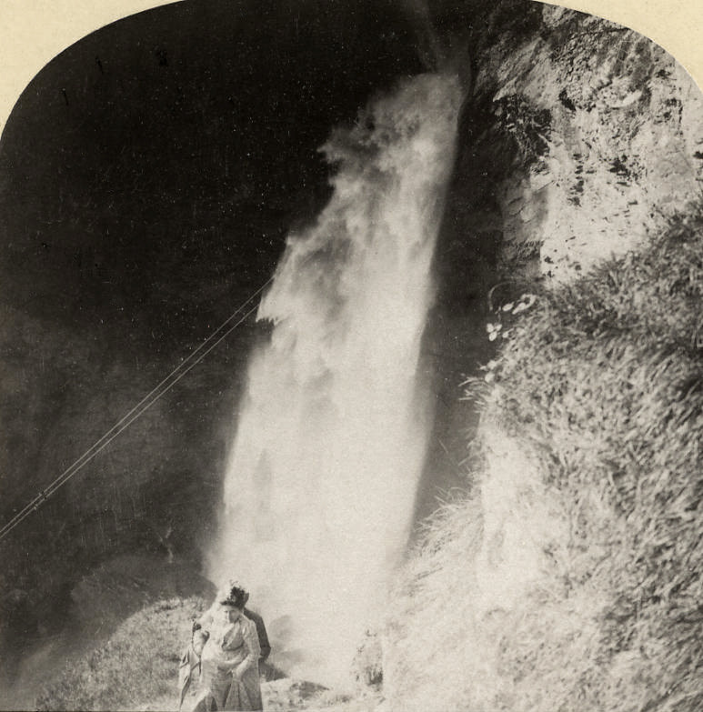 Chute du Reichenbach par Gabler en 1885