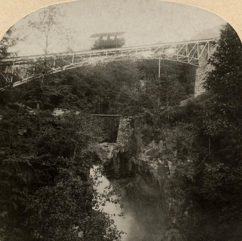 Train du Reichenbach par Gabler en 1885