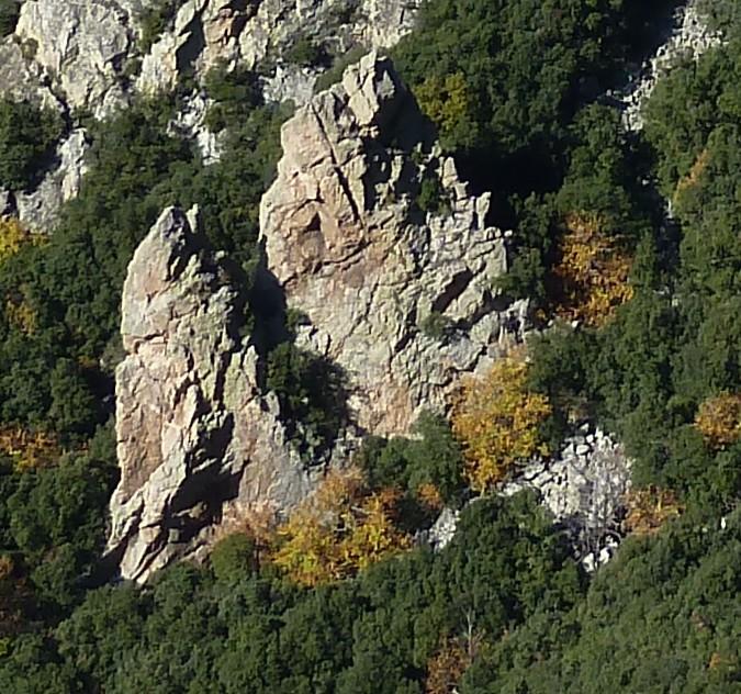 Caroux - Roc des Hirondelles - versant E
