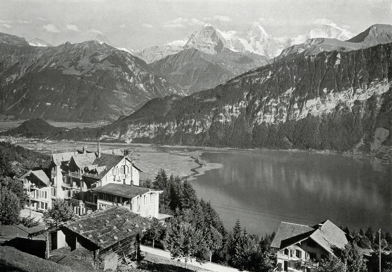 Saint Beatenberg, lac de Thoune, Schreckhorn, Eiger, Mönch, Jungfrau