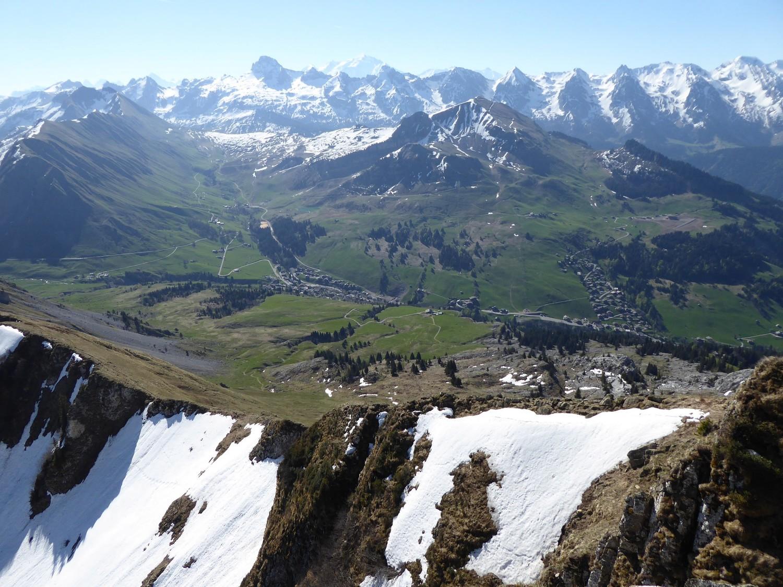 la chaîne des Aravis, vue depuis Aig Verte