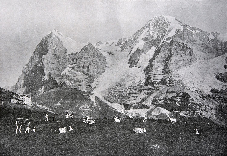 Eiger et Mönch en 1900