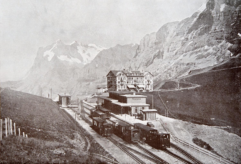 Kleine Scheidegg et Wetterhorn en 1900