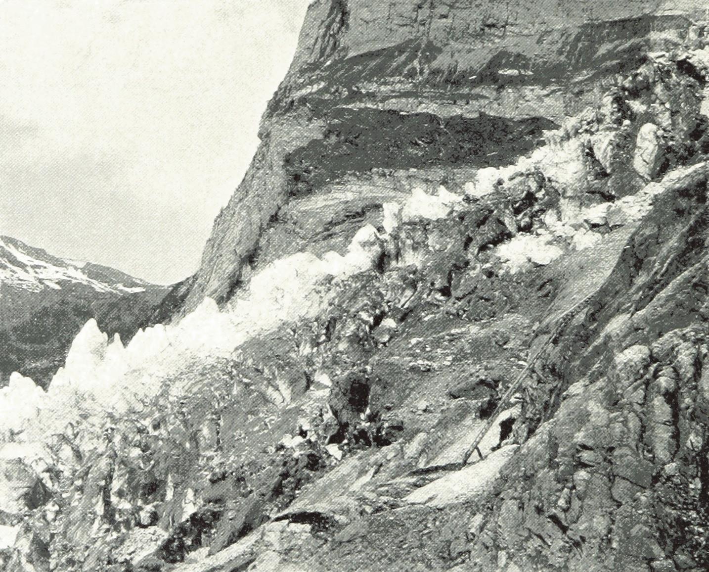 Glacier supérieur de Grindelwald par Theodor Wundt en 1898