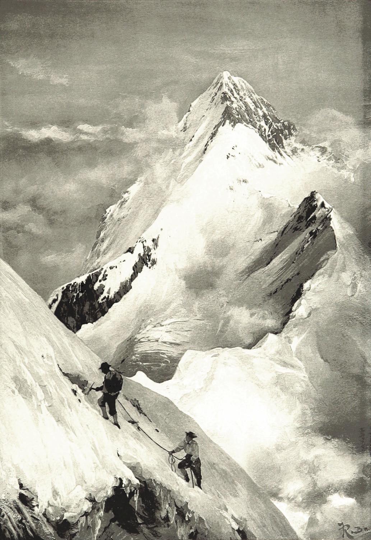 Eiger vu du Mönch par Theodor Wundt,en 1898