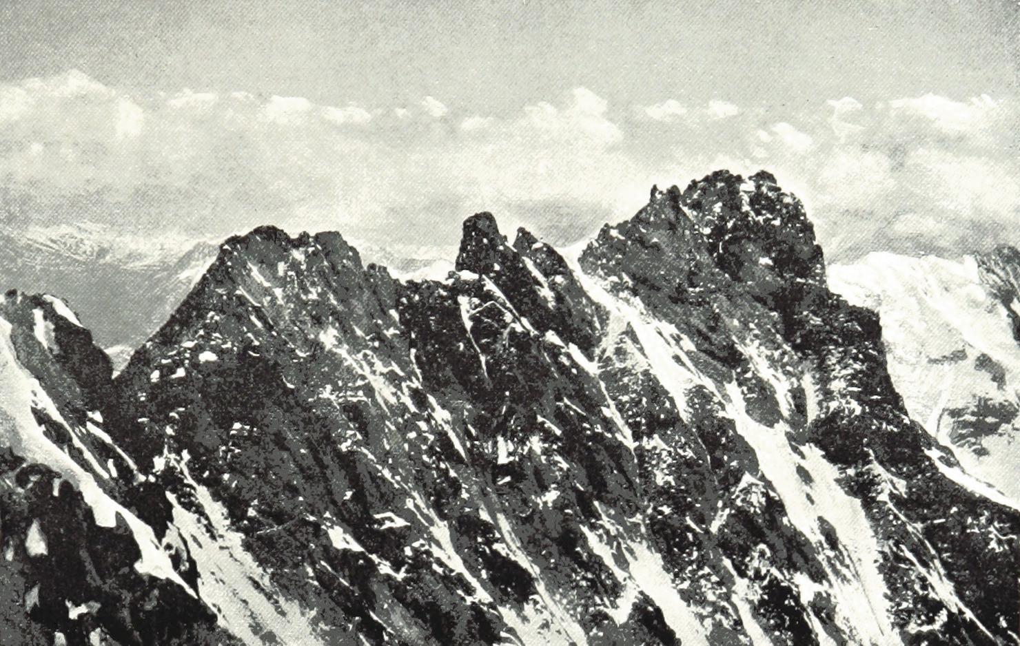Lauteraarhorn vu du Schreckhorn par Theodor Wundt en 1898