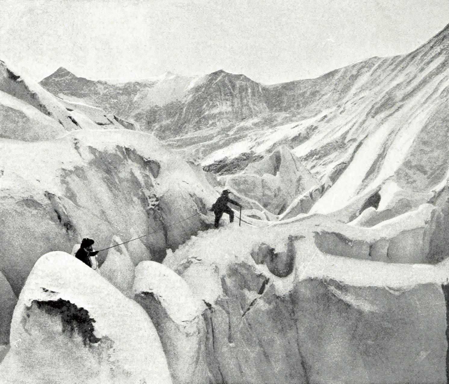 Grindelwald Eismeer par Theodor Wundt en 1898