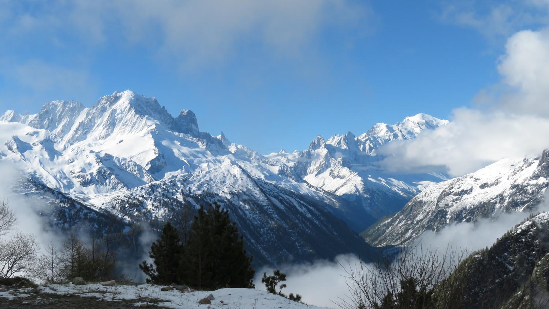 Dégagé d'Argentière au Mt Blanc