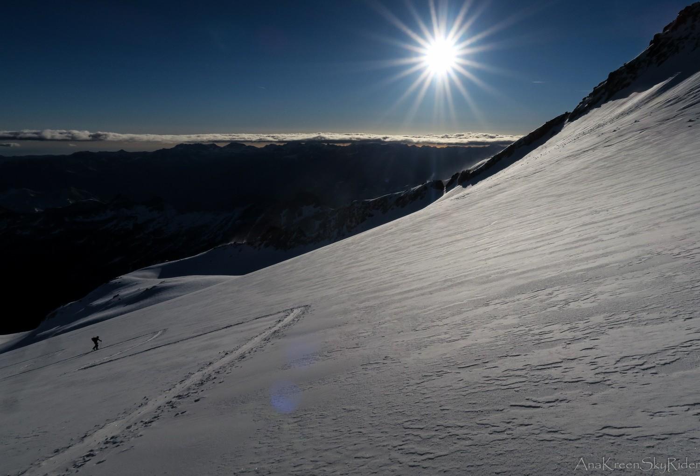 Montée sur le glacier de la Maladeta