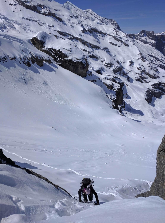 the schort passage to the saddle 2703m of hochturli