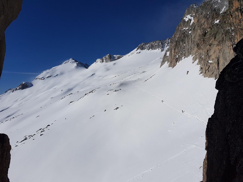 le glacier de l'aneto depuis le portillon supérieur