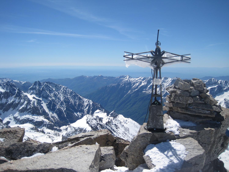 Panorama sul Piemonte dalla cima