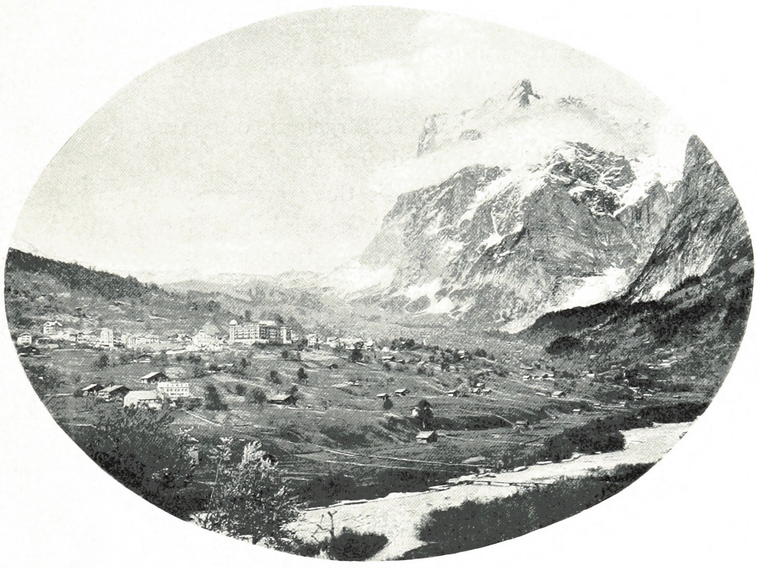 Grindelwald - Wetterhorn par Theodor Wundt, fin XIXe