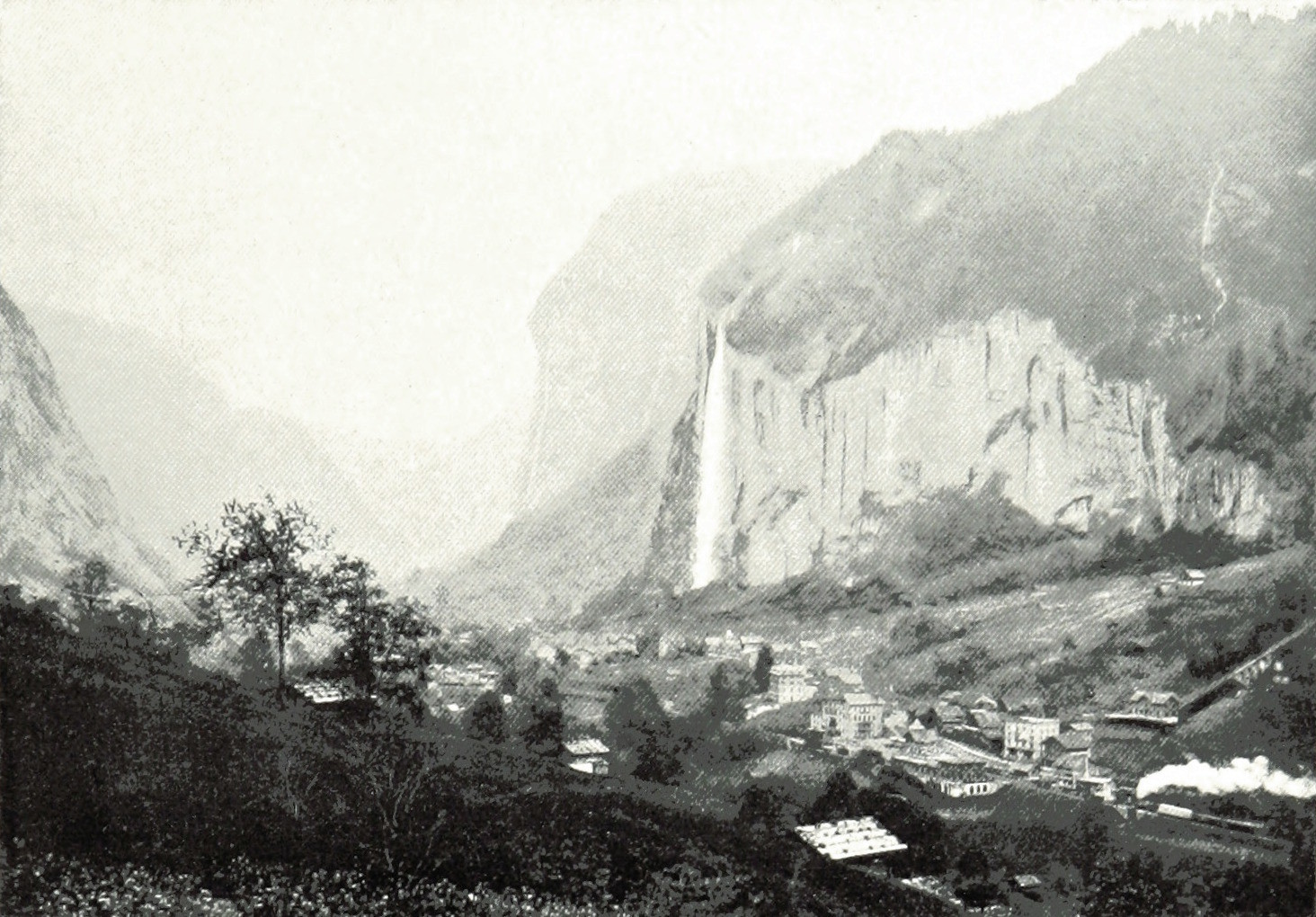 Lauterbrunnen par Theodor Wundt, en 1898