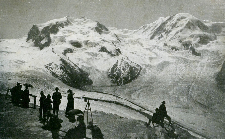 Mont Rose vu du Gornergrat par Wehrli
