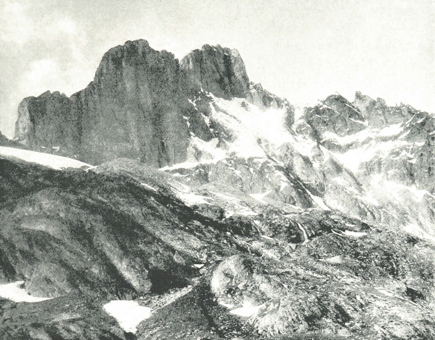 Wetterhorn vu de la cabane Gleckstein par Theodor Wundt, 1898