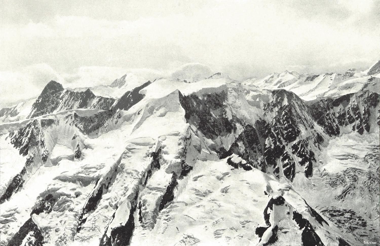 Fiescherhörner vus du Schreckhorn par Theodor Wundt