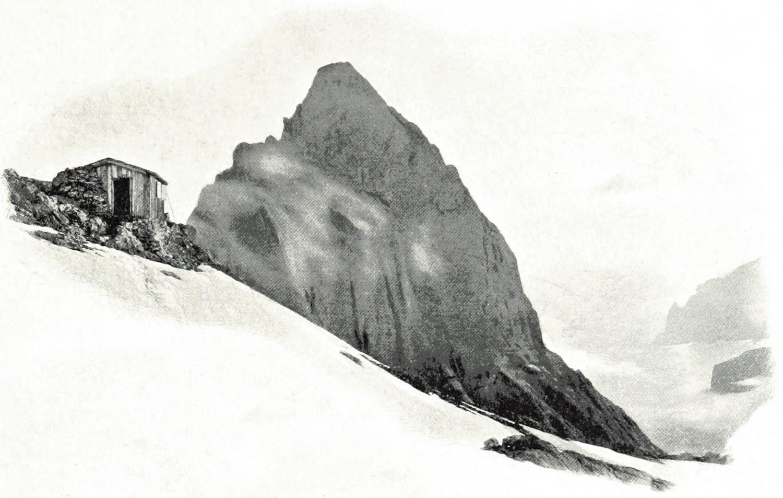 Gstellihorn et Cabanne Dossen par Wundt en 1898