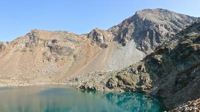 Lac Gelé et le Mont Emilius derrière