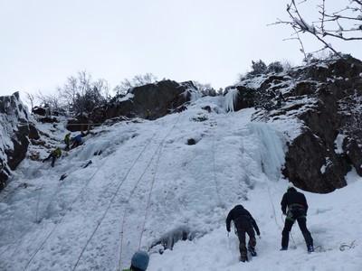 Cascade de glace au Lac Blanc