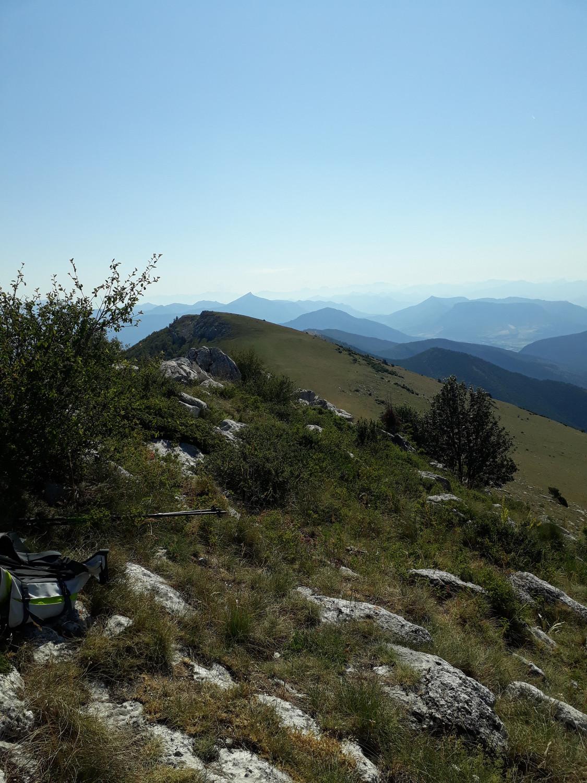 vue du sommet, plein Est