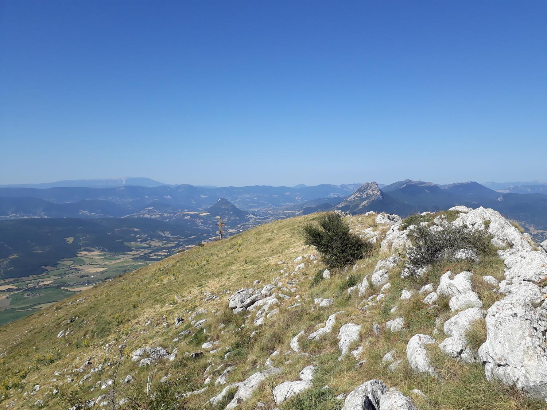 vue du sommet, plein Ouest