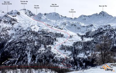 Itinéraire depuis Valgrisenche